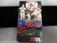 Boston Red Sox 1980 Schedule TV38  2 3/8 x 4 1/8 tri fold