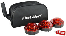 3 First Alert 9.1.1 LED Emergency Beacon Flares Bag Roadside Road Lights Safety