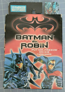 Batman & Robin Put Mr Freeze On Ice Card Game Parker Brothers - Unopened