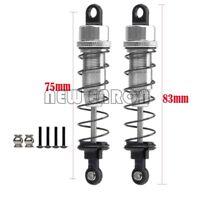 Silver Aluminum 75MM Oil Adjustable Shocks Absorber For 1/10 HPI HSP Tamiya CC01