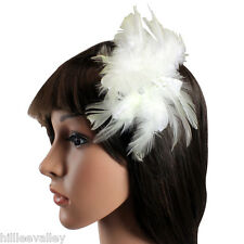 FASCINATOR HEAD PIECE WEDDING HAIR CORSAGE HAIR CLIP WEDDING FASCINATOR FEATHER