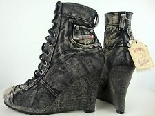 DIESEL LIASON WEDGE Stiefeletten Ankle Boots Damen Halbstiefel Gr.39 NEU ETIKETT