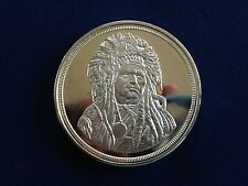 The Silver Chief The Running Antelope Five Troy Ounce Silver Art Medal E5138