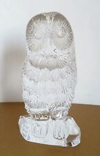 Waterford Crystal Solid Glass Owl Figurine Paperweight