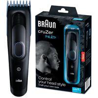 Braun CruZer 5 Head Mens 2-in-1 Hair & Face Shaver Clipper Kit, Washable, 3-24mm