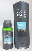 DOVE MEN+CARE DAILY CARE DUO  SET BODY & FACE WASH / Body Spray**uk**
