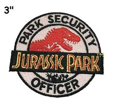 Jurassic Park SECURITY OFFICER Logo Sew Iron-On Badge Embroidery Applique Patch