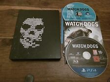 WATCH DOGS PS4 UK GIOCO + STEELBOOK RARO caso CD colonna sonora GUARDIANI