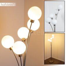 Piantana Metallo Moderna Sfere Vetro Lampada Stelo Illuminazione Salotto Studio