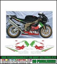 kit adesivi stickers compatibili  rsv 1000 r tricolor lyon rr