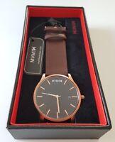 MVMT Herren Uhr Classic Series Rose Gold/ Braunes Lederarmband 45mm Watch NEU!
