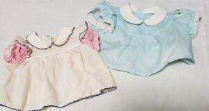 Lot -2 Vintage 1980s Cabbage Patch Kids clothes white & pink shirt & blue plaid