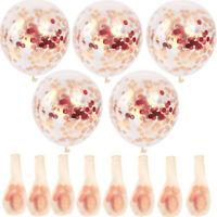 "10PC 12"" Konfetti Luftballon Geburtstag Party Hochzeit Helium Latex Ballons New"