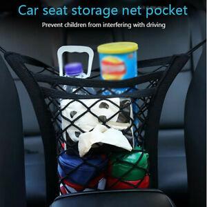 Car Barrier Seat Net Organizer 1pcs Universal Stretchy Auto Backseat Storage