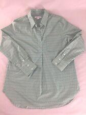 Liz Claiborne Pullover Tunic Blouse Top Stretch Cotton Long Sleeve Women Size M