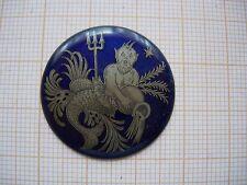 Petit médaillon émail Scene verseau amphores trident bijoux montre zodiaque p15