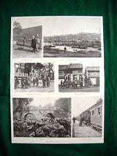 1895 in Giappone - marina Kobe, Réclame giapponese, treno di Yokohama