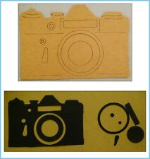 2pc die cut card stock and chipboard vintage camera lot. Sizzix, scrapbook, card