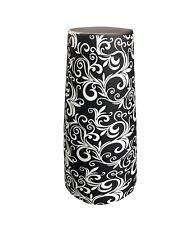 Black & white Flower Pattern 28oz Boston Cocktail Shaker Weighted Cheater Tin