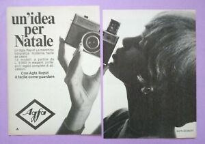 Pubblicita'Advertising Werbung Vintage AGFA Rapid macchina fotografica 1966 (B2)