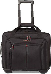 """Aerolite Executive 17"""" Laptop Wheeled Bag Cabin Luggage Business Office Case UK"""