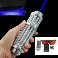 450nm Blue Lazer high power Laser Pointer Military Beam Light Pen & Glasses Cups