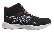Reebok Workout Energy Mid RS Size 5 Black RRP £55 BNIB V60381