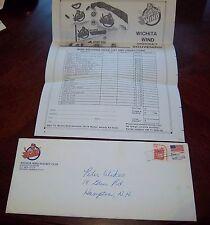 Wichita Wind Hockey Club envelope post mark 1980's Fan mail order
