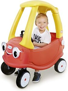 Child Powered Ride-On Toy Car with Built-In Grip Handle