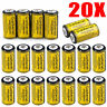 20PCS 16340 Flashlight 85177 CR123A 3.7 Volt Lithium  Rechargeable Batteries USA