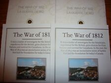 2 Sets of Rare US Canada 1812 War Commemorative Coin Collector Cards And Maps