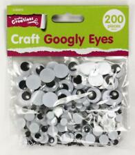 Childrens Craft Googly Eyes Wobbly Glue On Large Medium Small Art Kids Cards