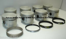 "Plymouth Dodge Chrysler 440 Cast Pistons (8) + MOLY Rings 9.3:1 040"" 1966-71"