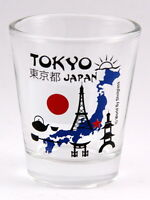TOKYO JAPAN LANDMARKS COLLAGE SHOT GLASS SHOTGLASS
