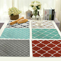 Home Geometry Placemat Linen Dining Insulation Kitchen Mat Clover Cotton Table