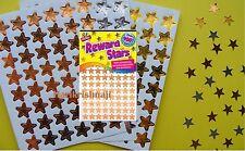 REWARD STAR FOIL STICKERS REWARD POTTY CHARTS TEACHER KIDS GOLD SILVER BRONZE