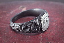 Berlin Iron Signet Ring 'Jy' Initials Stunning & Rare Genuine 1800's Antique