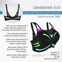 Glamorise Women's Plus-Size Camisole Sport Bra Bra, Print,, Print, Size 42DD 6GI