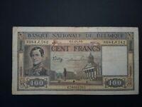 Banknote, Belgium,1946(VF)100 francs.