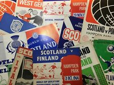 More details for scotland home football programmes *select from dropdown list*