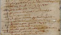 Document ancien vers 1650 liste de personness payant l'impôts, à localiser