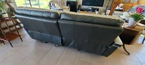 Nick Scali Leather Lounge Suite x 3 pieces