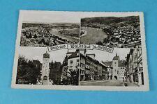 Schöne AK WALDSHUT a.Hochrhein, 4 Ansichten, Posthornmarke, gelaufen 1954 (43)