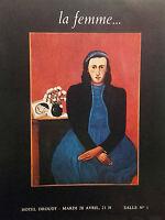 1970 Catálogo De Venta Demuestra Drouot La Mujer Y Su Cama