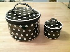 Black Polka Dot Makeup Case Nwot
