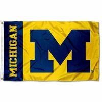 University of Michigan Wolverines Maize UM College Flag 3*5 FT