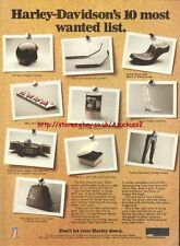 Harley Davidson Accessories Motorcycle 1980 Mag Advert #1609