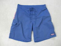 Vineyard Vines Swim Trunks Mens 34 Blue Red Board Shorts Bathing Suit Whale *
