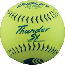 "Dozen (12x) - Dudley 12"" Usssa Thunder Sy Synthetic Classic Softballs 4U-541Y"
