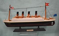 """Titanic 14"""" Wooden Tall Ship Model Boat Historic Accurate Collect Nautical New"""